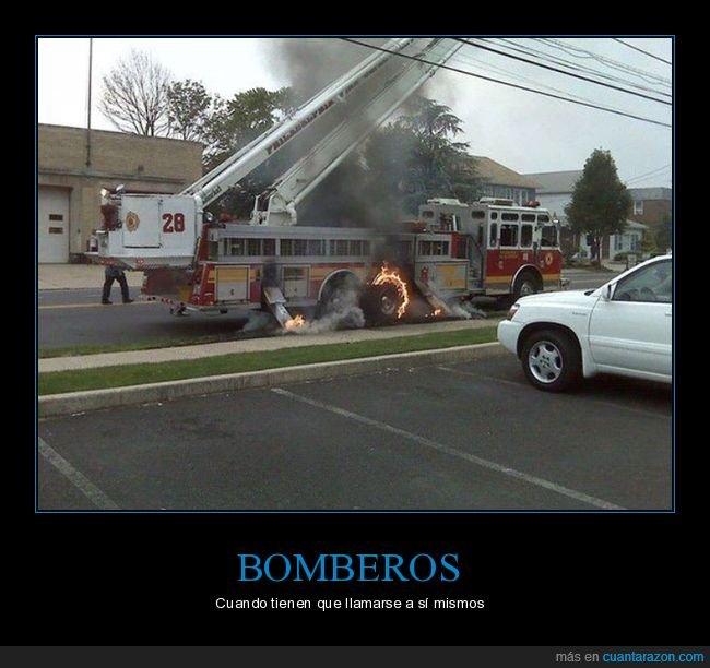 bomberos,camión,fails,fuego