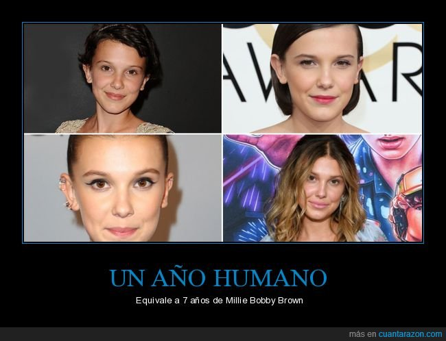 años,equivaler,millie bobby brown