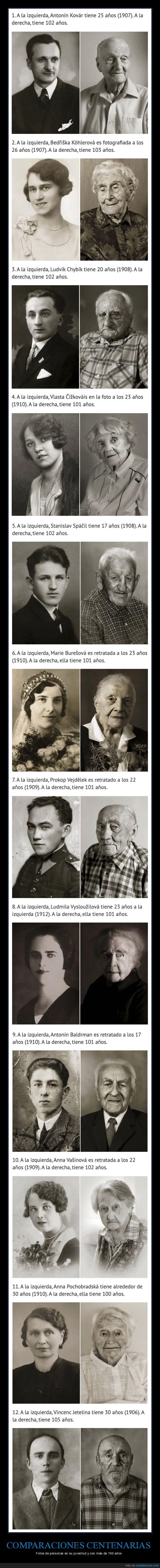 100 años,antes,comparaciones,después