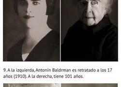 Enlace a Antes y después: 12 Comparaciones de personas en su juventud y con más de 100 años