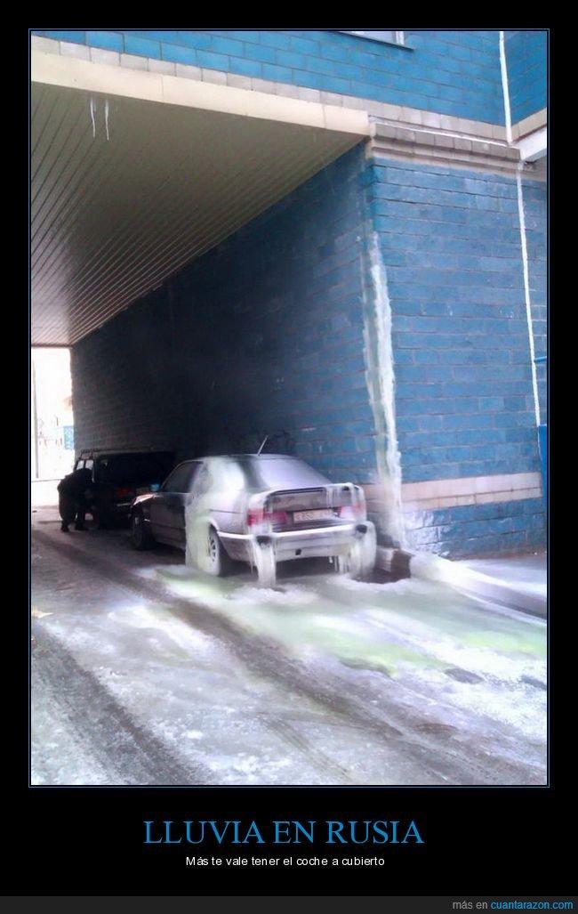 coche,hielo,lluvia,rusia
