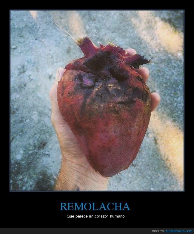 corazón,parecidos,remolacha