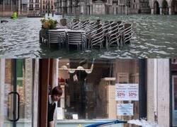Enlace a Fotos que muestran la magnitud de las inundaciones en Venecia