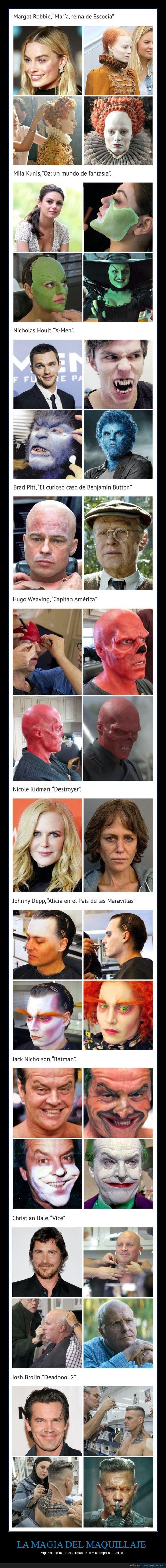 actores,antes,cine,después,maquillaje,películas