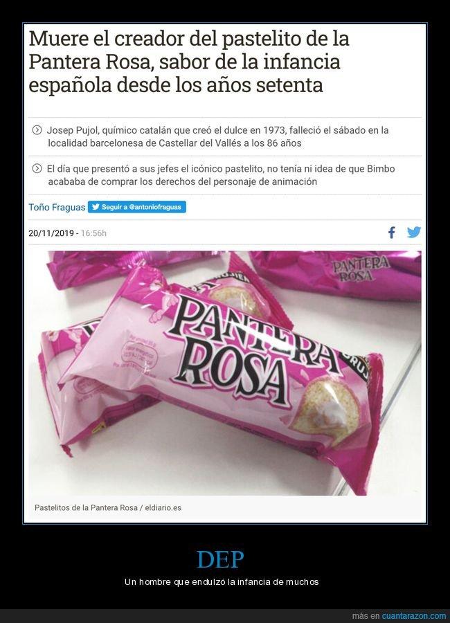 muerte,pantera rosa,pastelito
