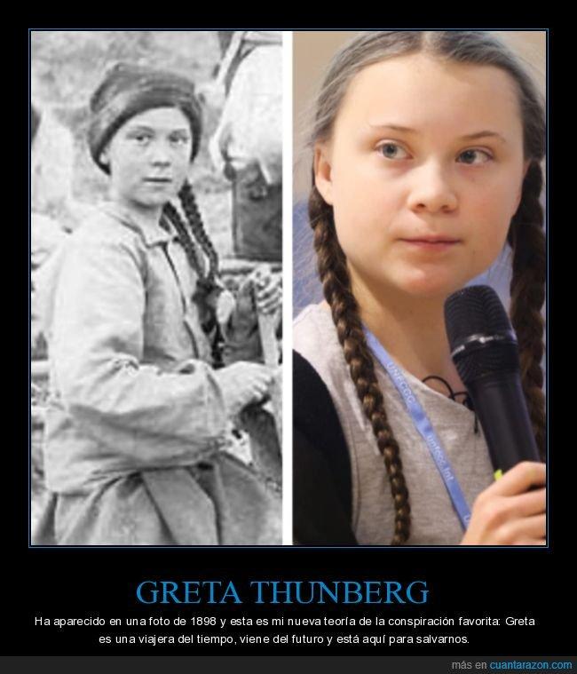greta thunberg,parecidos,viaje en el tiempo,wtf