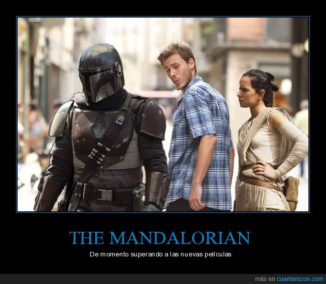 distracted guy,star wars,the mandalorian