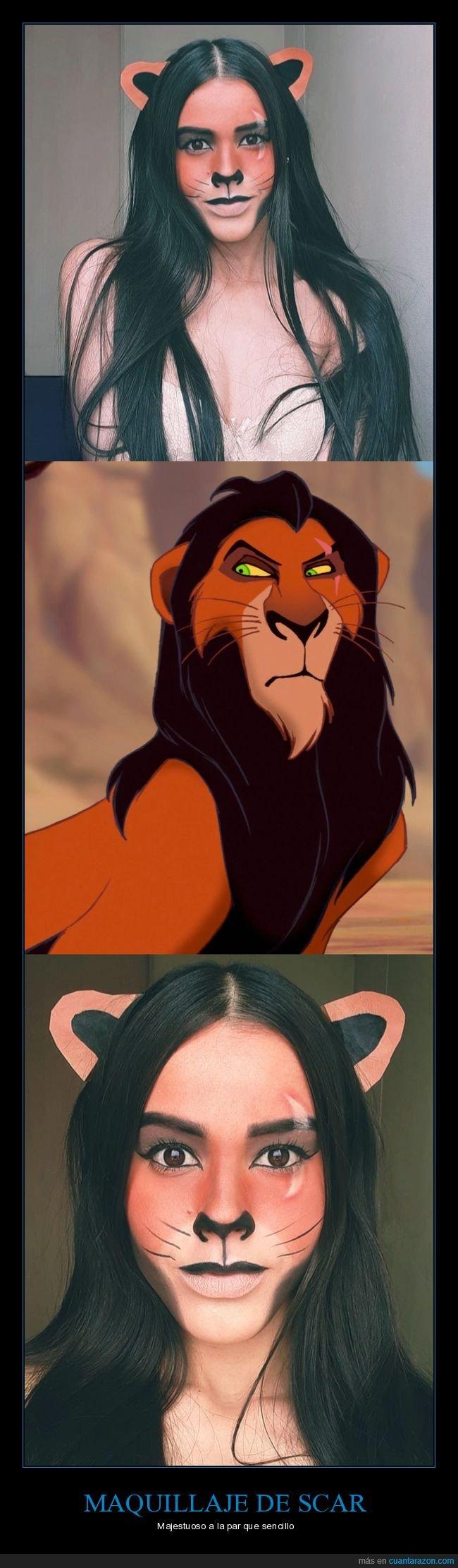 el rey león,maquillaje,scar
