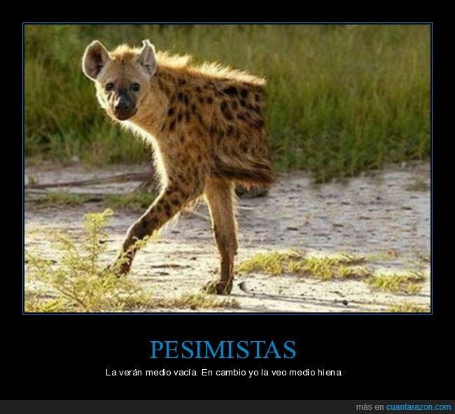 absurdo,hiena,medio,pesimista,vacía