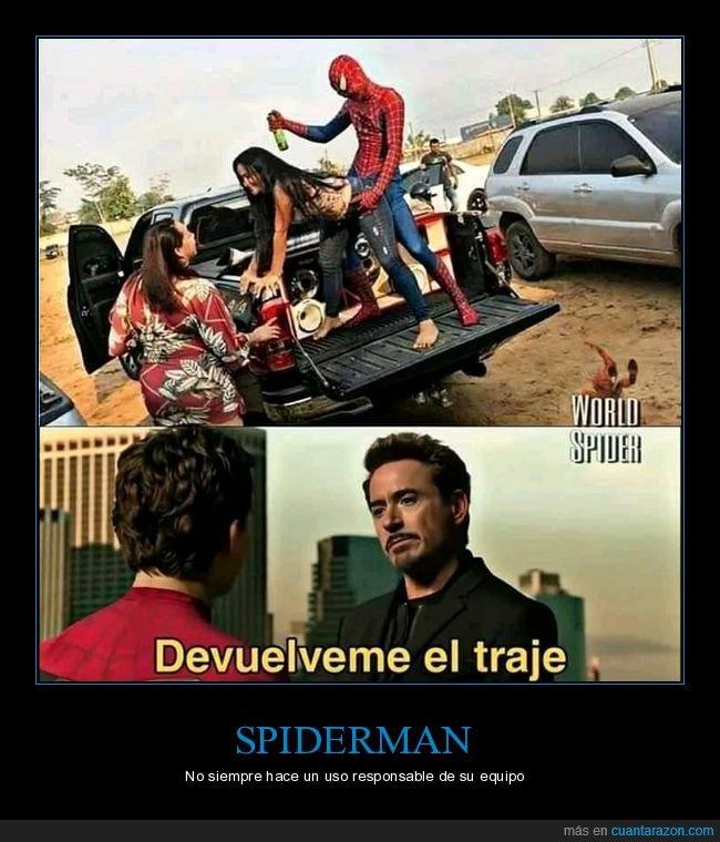 party hard,perreando,spiderman,wtf