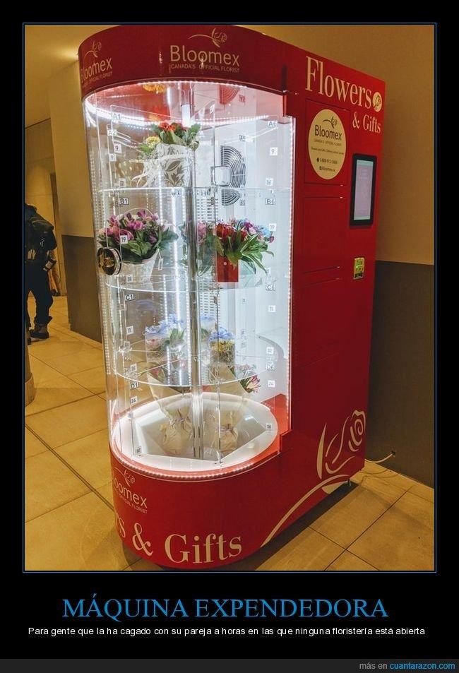 flores,máquina expendedora,wtf