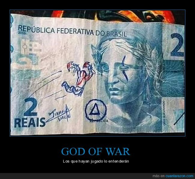 billete,god of war,kratos