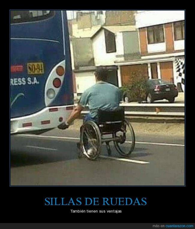silla de ruedas autobús,wtf