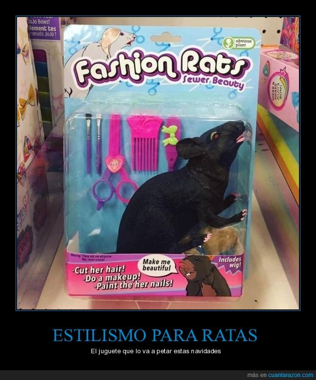 estilismo,juguete,ratas,wtf