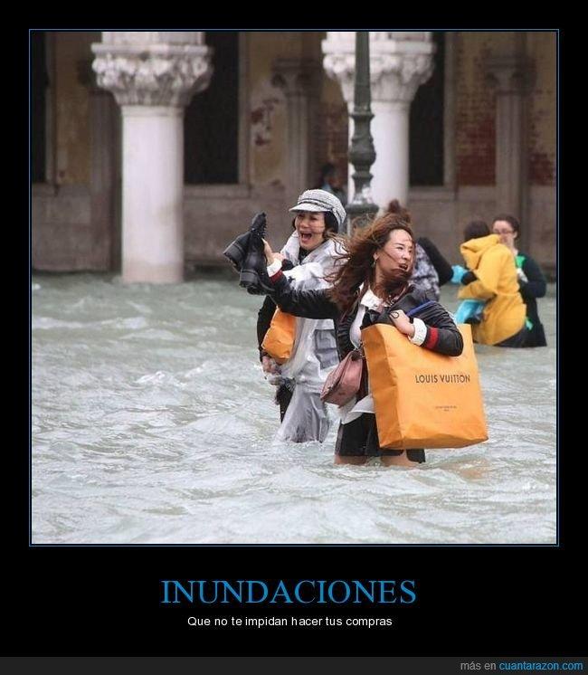 compras,inundación,venecia