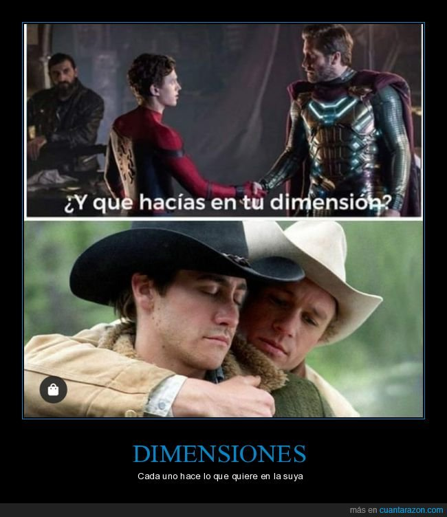brokeback mountain,dimensión,mysterio,spiderman
