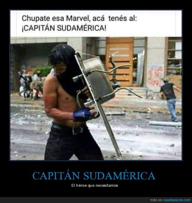 capitán sudamérica,escudo,fregadero,marvel,wtf