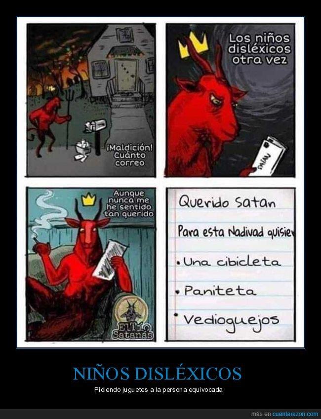disléxicos,fails,niños,santa,satán