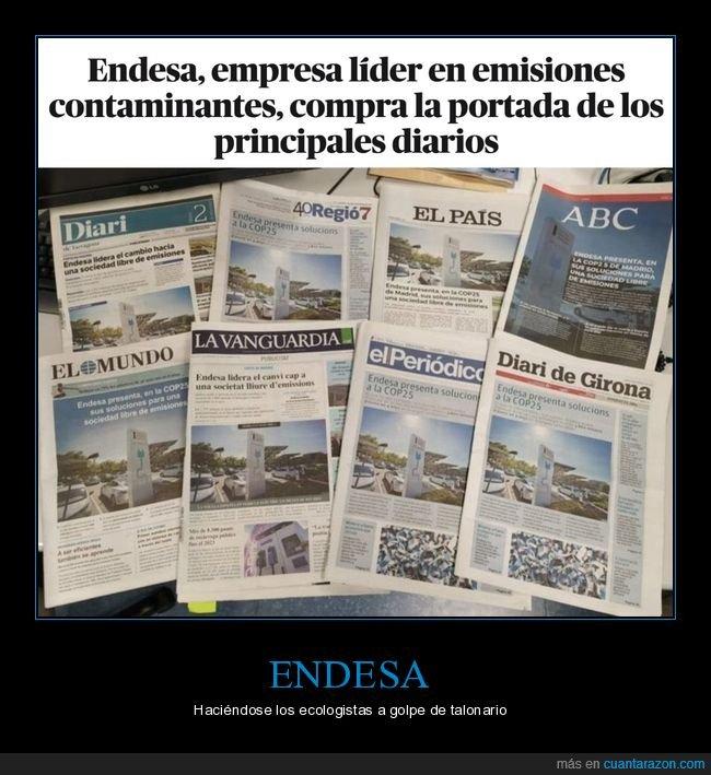 comprar,contaminación,emisiones,endesa,periódicos,portadas