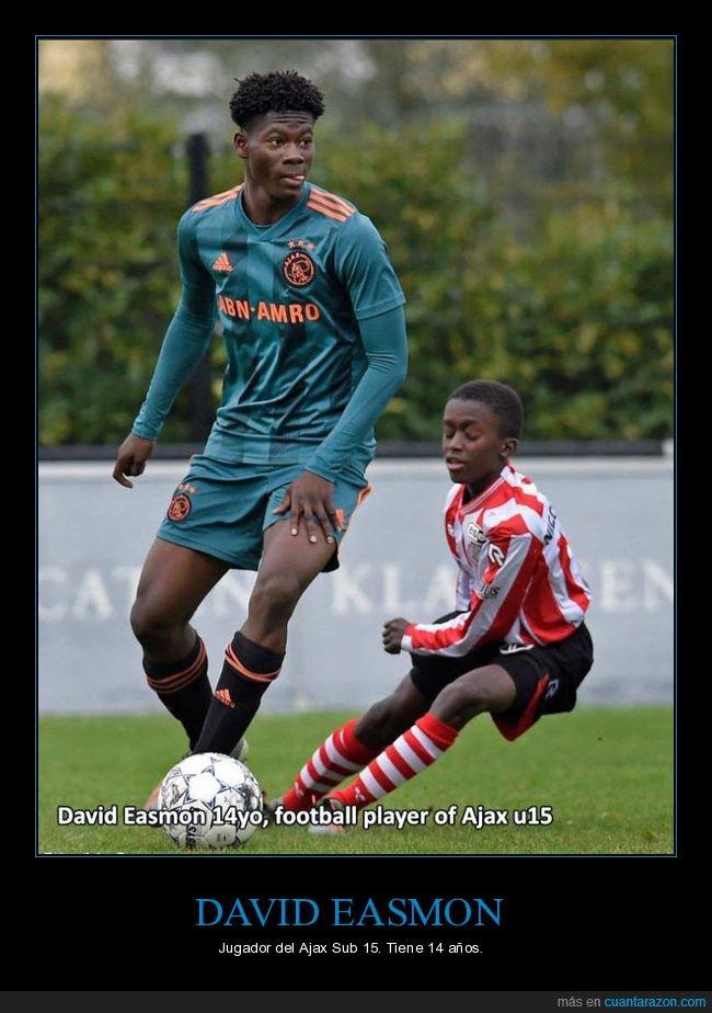 14 años,david easmon,edad,jugador de fútbol