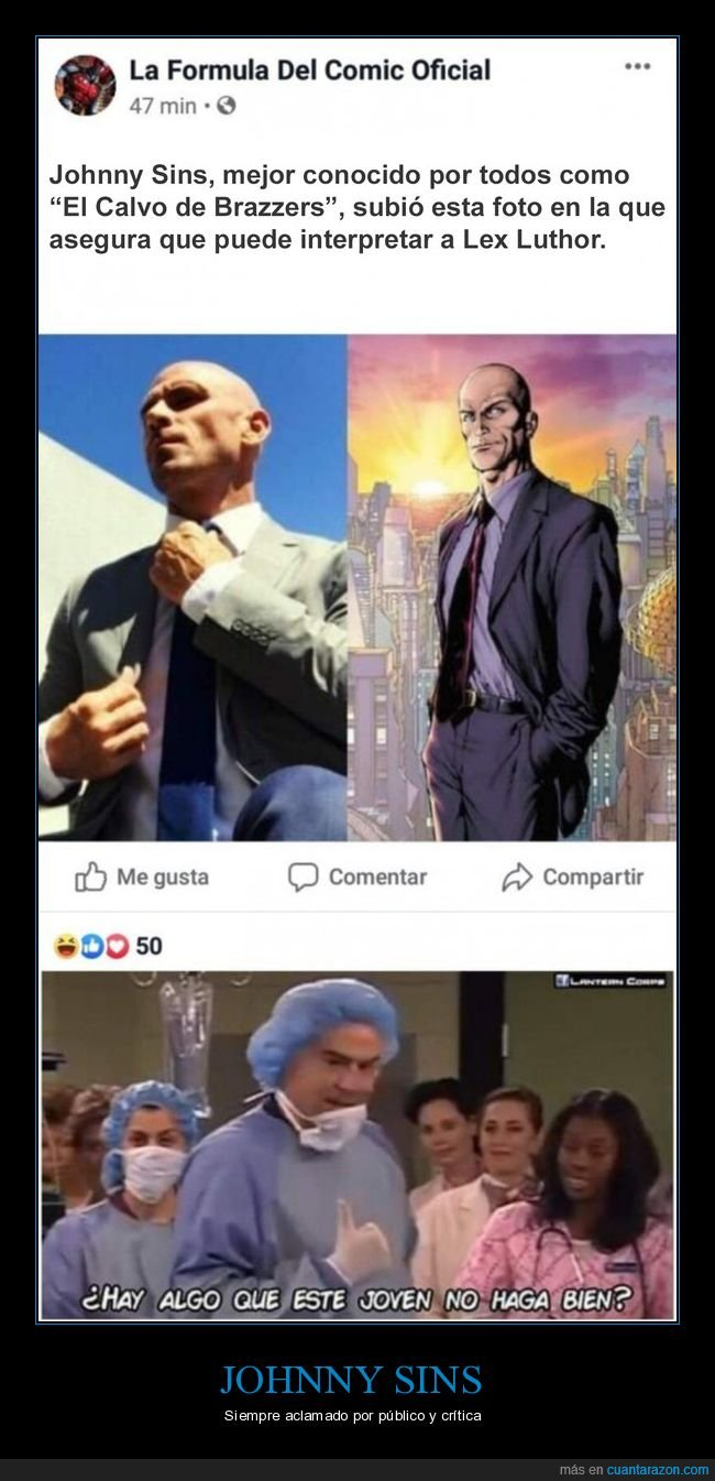 johnny sins,lex luthor,superman