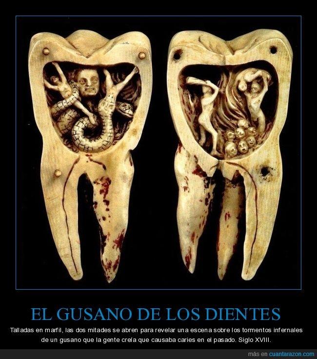 caries,dientes,gusano,muela