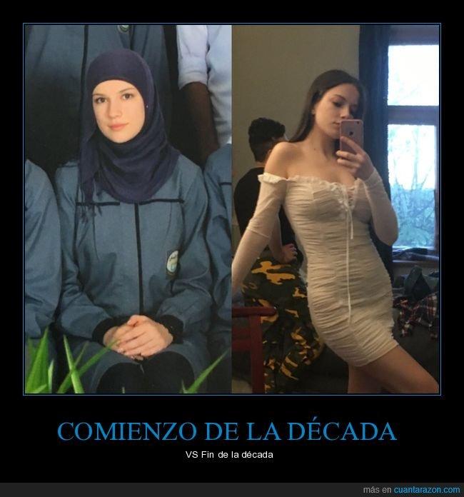 comienzo,década,fin,hiyab