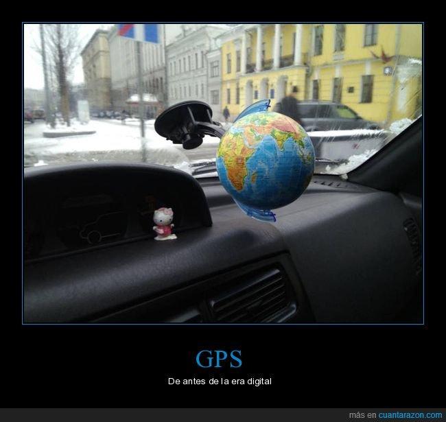 coche,globo terráqueo,gps