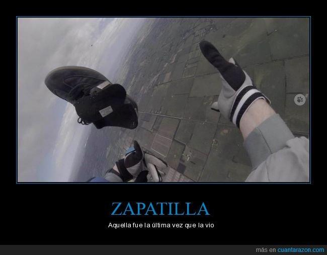 fails,paracaídas,zapatilla