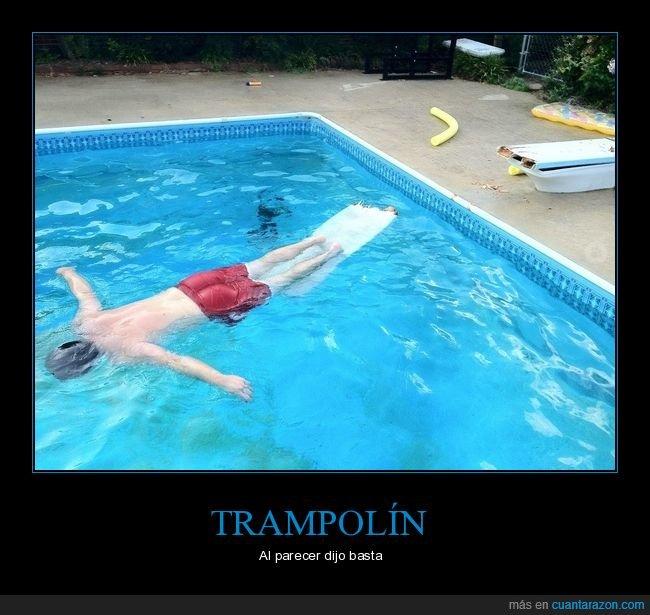 fails,piscina,trampolín