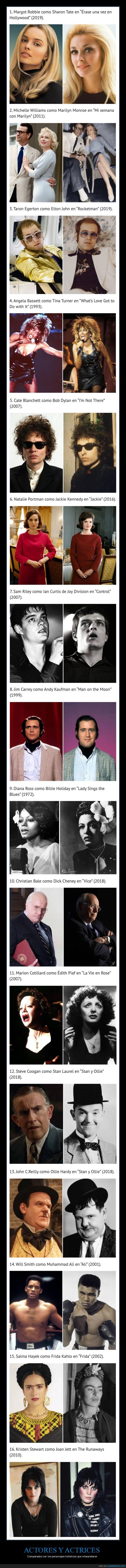 actores,comparación,personajes históricos