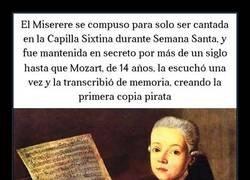 Enlace a La historia del niño Mozart y El Miserere