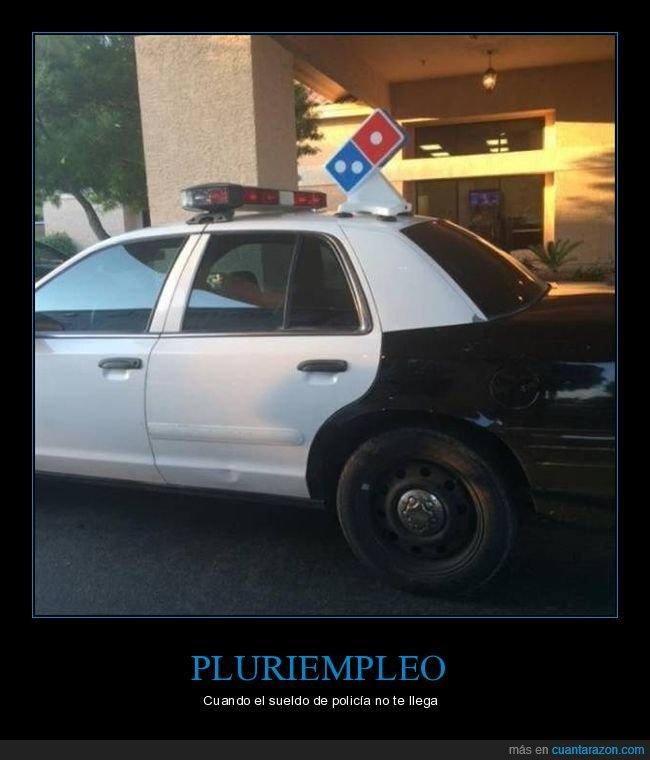 coche de policía,domino's,wtf