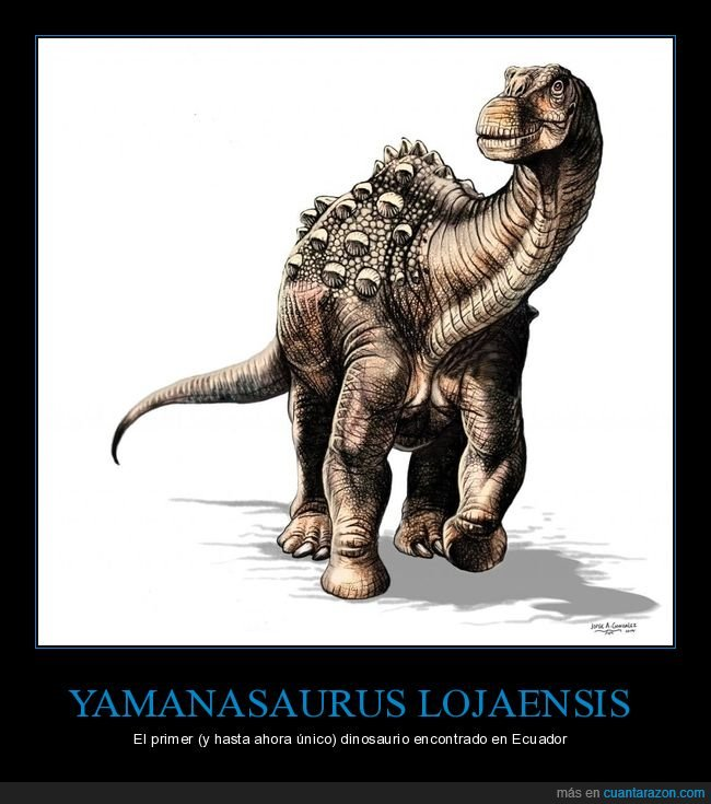 dinosaurio,ecuador,único