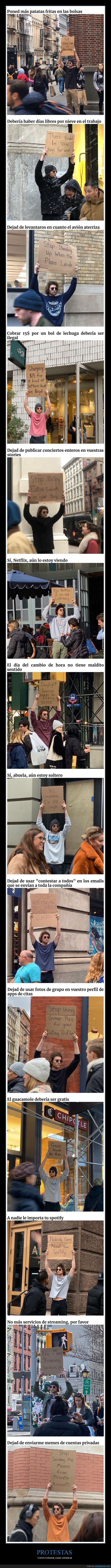 carteles,molestias,protesta