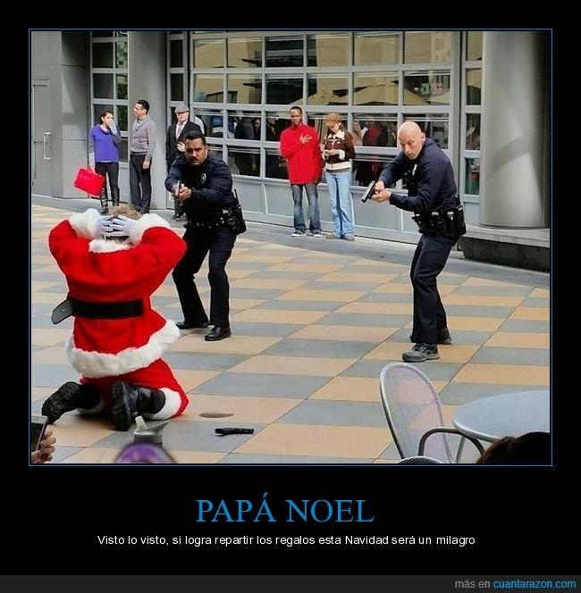 detenido,papá noel,policía