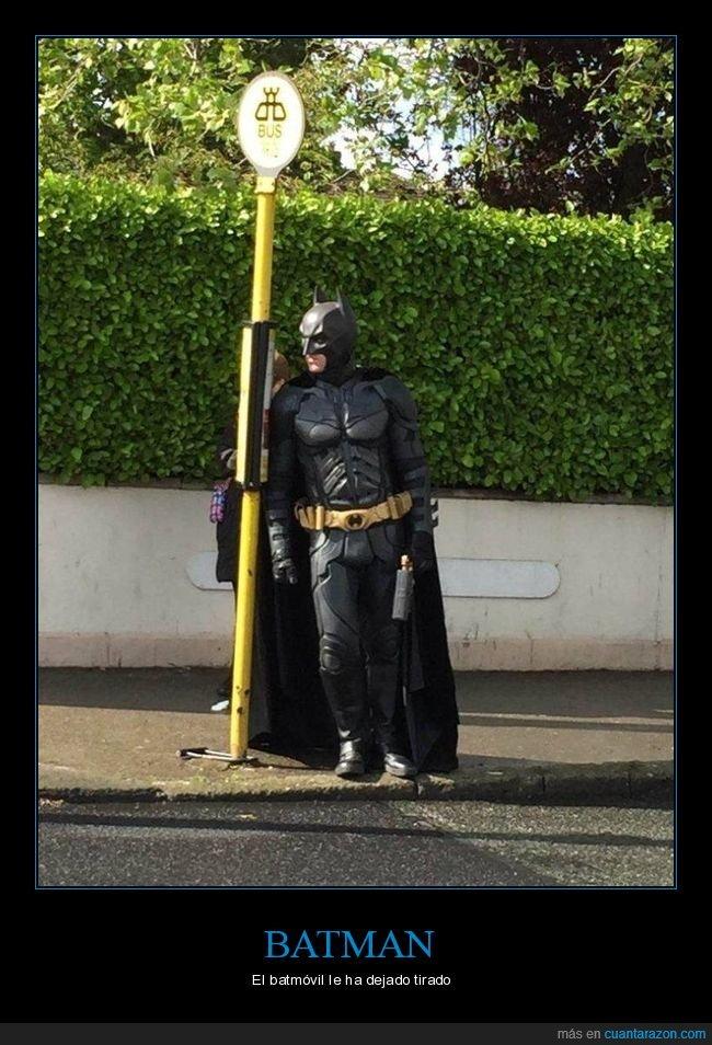 batman,parada de autobús,wtf