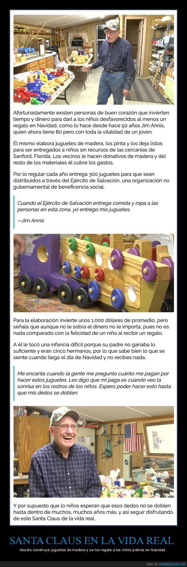 abuelo,construir,juguetes,niños