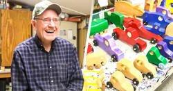 Enlace a Anciano construye juguetes de madera y se los regala a los niños pobres en Navidad