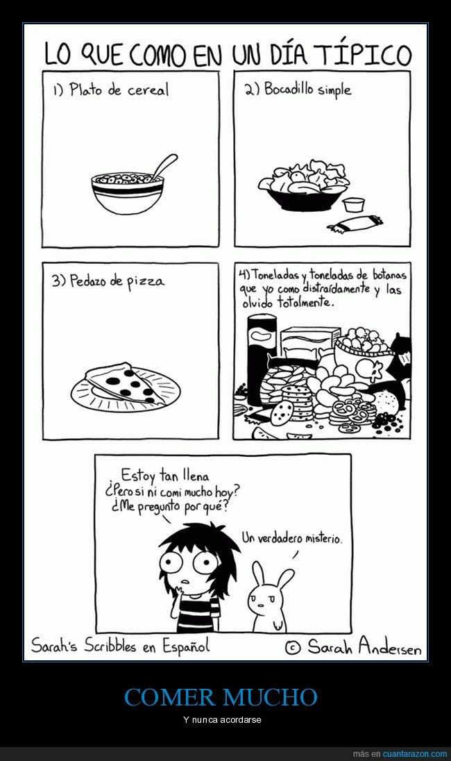 comer,comida,olvidar