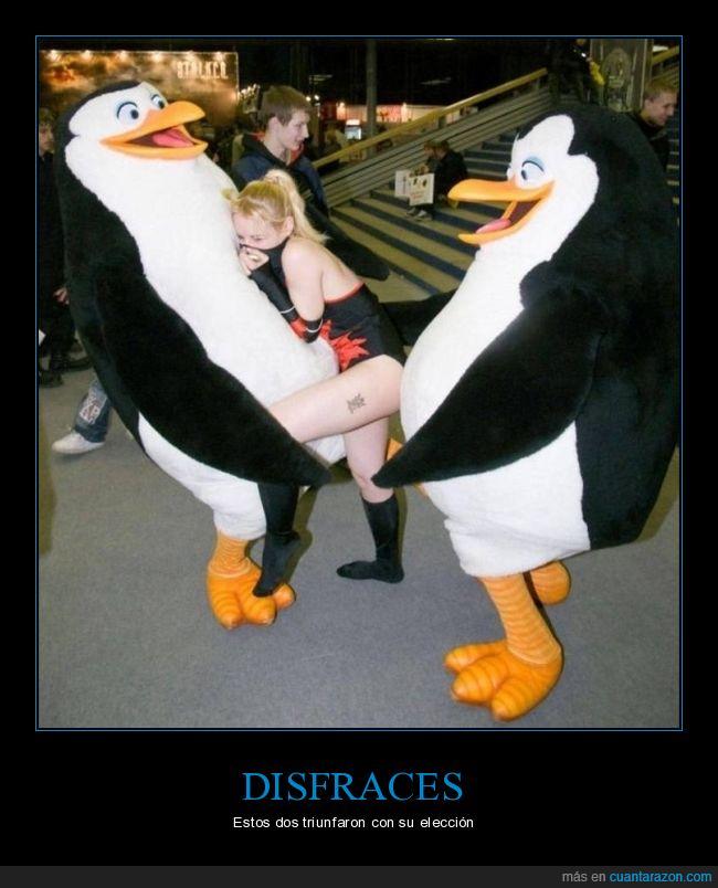 disfraces,disfraz,madagascar,pingüinos