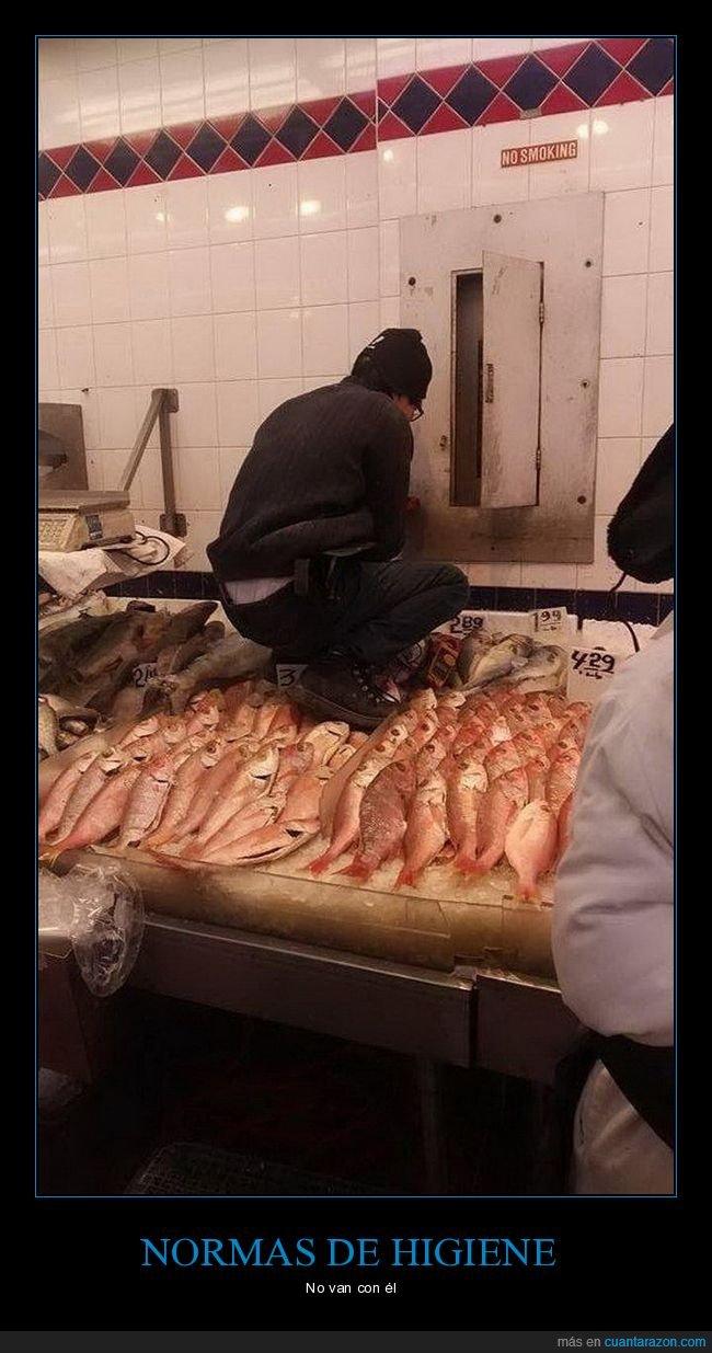 pescadería,pescado,pies,wtf