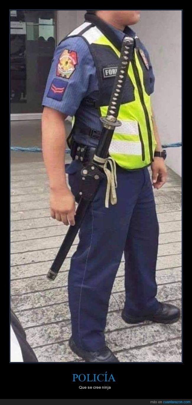 espada,policía,wtf