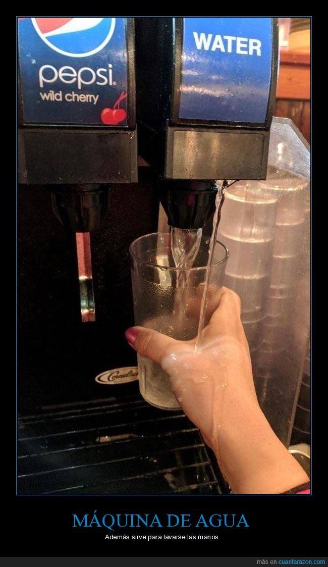 agua,fails,máquina