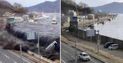 Enlace a Fotos que muestran el tsunami de Japón durante la catástrofe y en la actualidad