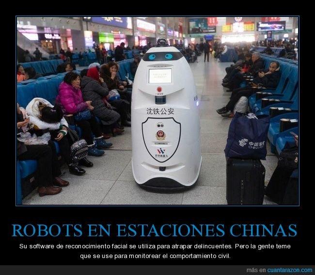 china,reconocimiento facial,robot