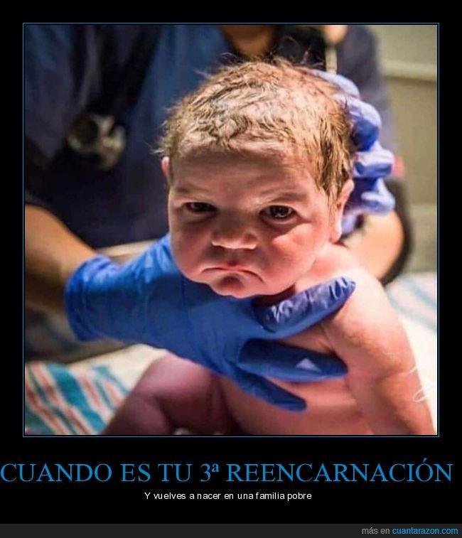 bebé,cara,familia,nacer,pobre,reencarnación
