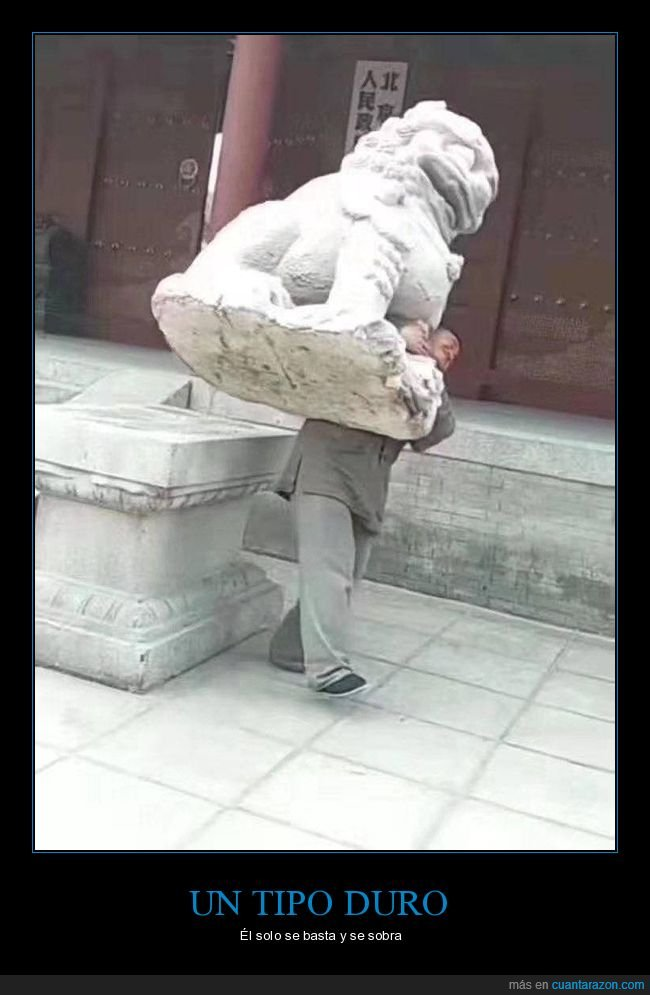cargando,estatua,fuerza,wtf