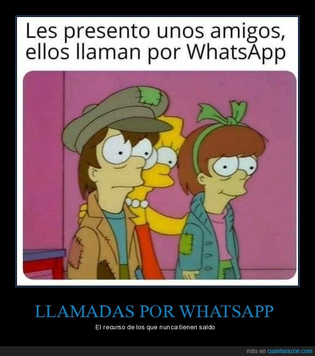 llamadas,simpsons,whatsapp