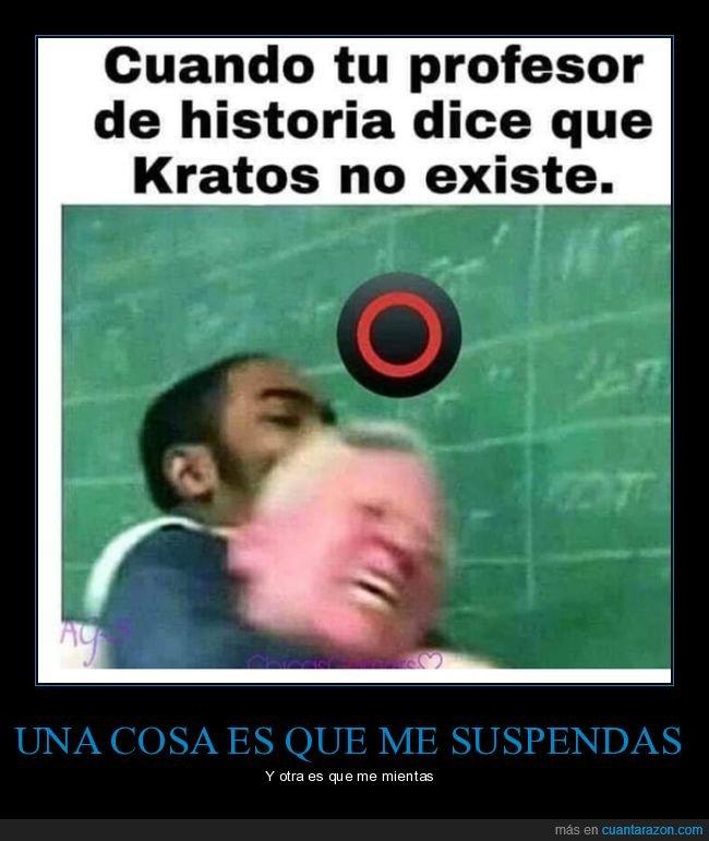 existir,historia,kratos,profesor